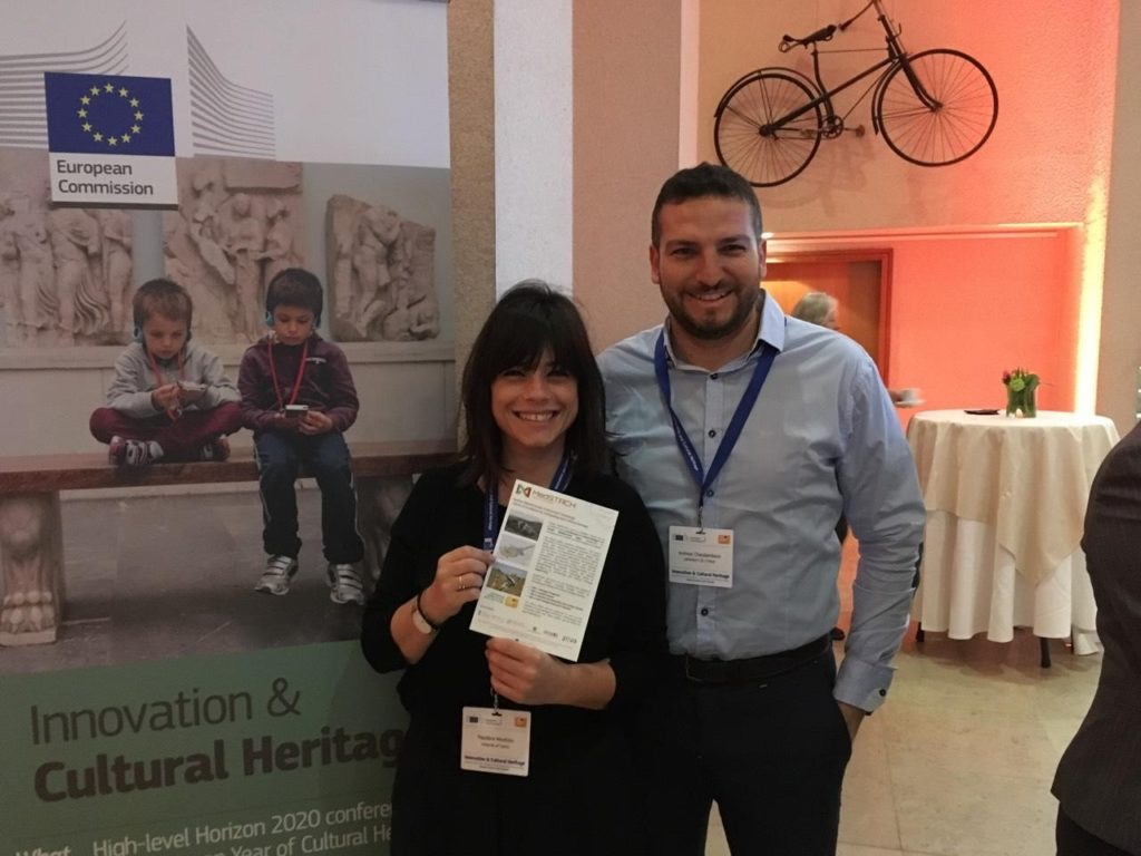 Drs. Theodora Moutsiou and Andreas Charalambous delegates of MedSTACH at the Innovation & Cultural Heritage High-level Conference in Brussels, 20 March 2018.